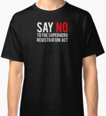 Civil War - Say No - White Clean Classic T-Shirt