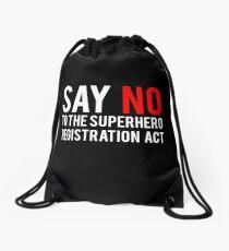 Civil War - Say No - White Clean Drawstring Bag