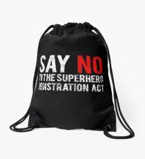 Civil War - Say No - White Dirty Drawstring Bag