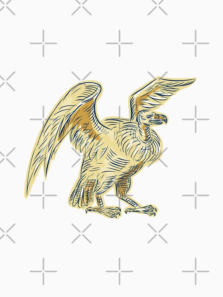 Vulture Buzzard Etching by patrimonio