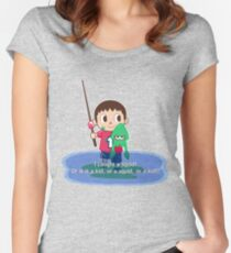 Fishing for Ink Women's Fitted Scoop T-Shirt