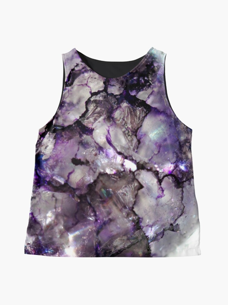 Alternate view of Purple crackle glass Contrast Tank