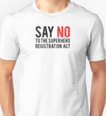 Civil War - Say No - Black Dirty T-Shirt