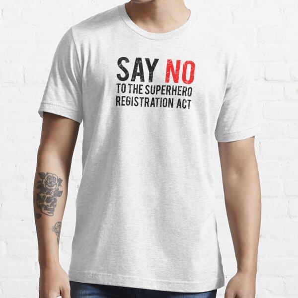 Civil War - Say No - Black Dirty Essential T-Shirt