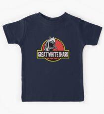 Great White Shark Jurassic Parody T Shirt Kids Tee
