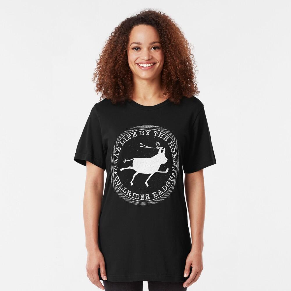 Bull Rider Badge Slim Fit T-Shirt