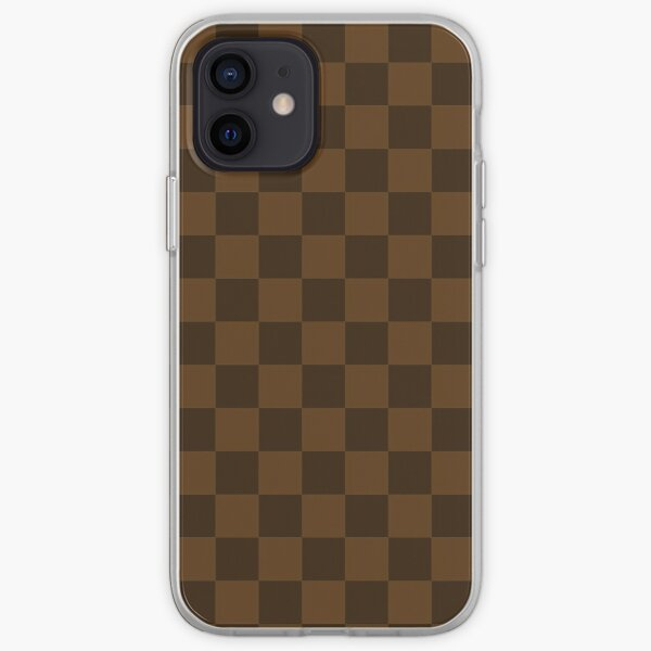 Brown and Carmel Check iPhone Soft Case