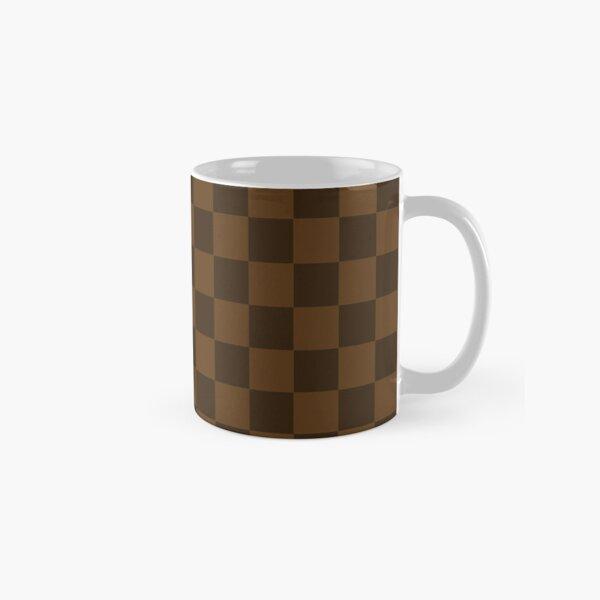 Brown et Carmel Check Mug classique