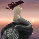 Meerjungfrau und Sonnenuntergang von Eva Nev
