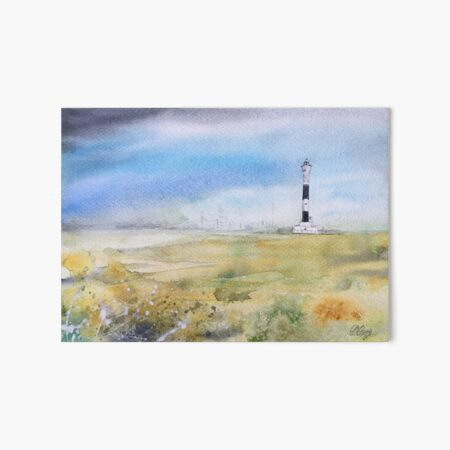 Watercolour Painting of Dungeness Lighthouse Art Board Print