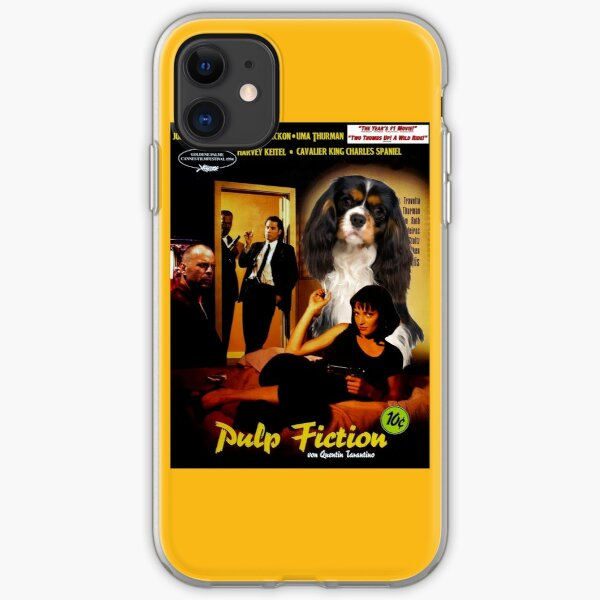 Cavalier King Charles Spaniel Art - Pulp Fiction Movie Poster iPhone Soft Case