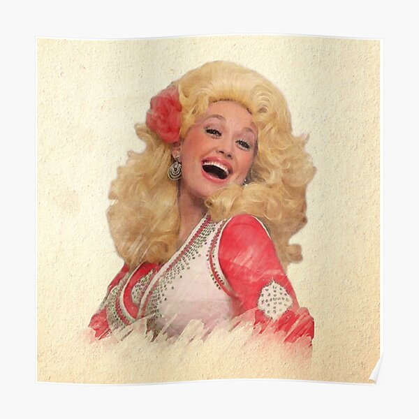 Dolly Parton - Watercolor Poster
