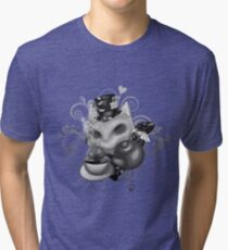 Teemo in Wonderland (gray desaturate) Tri-blend T-Shirt