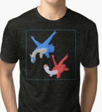 Latias and Latios Tri-blend T-Shirt