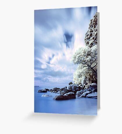 Onemana Beach infrared Greeting Card
