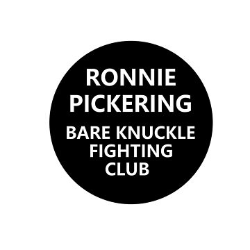 Ronnie Pickering Bare Knuckle Fighting Club by NeonArcade87