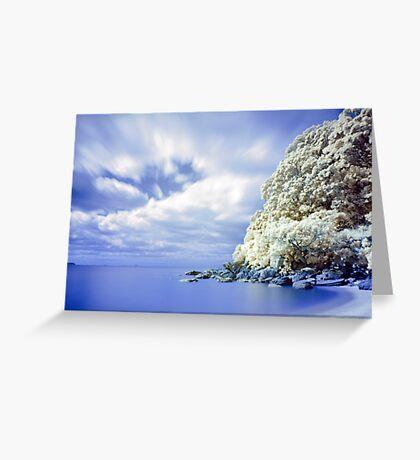 Onemana Beach infrared 2 Greeting Card