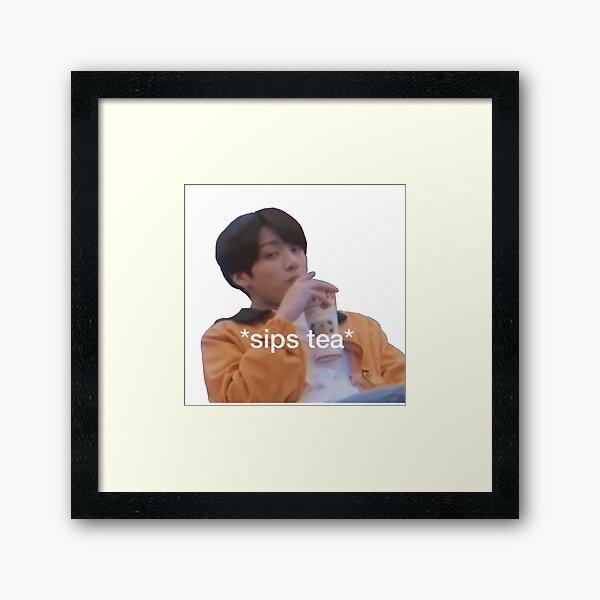 Jungkook Meme BTS  Framed Art Print