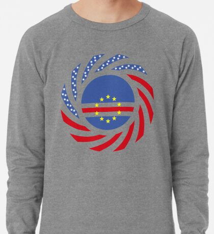 Cape Verdean American Multinational Patriot Flag Series 1.0 Lightweight Sweatshirt