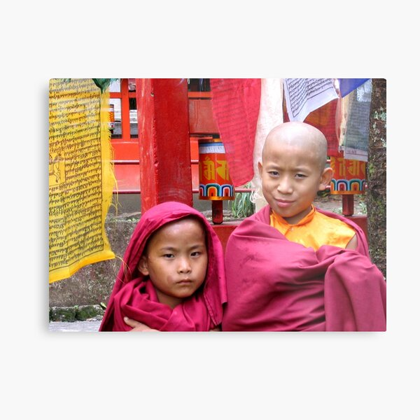 twofold. buddhist monks, sikkim, india Metal Print