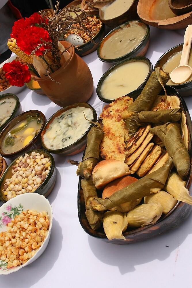 A Sample of Local Ecuadorian Food by rhamm