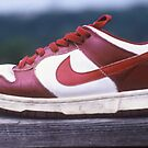 Dunk Lo - Red/White by Gerald Watson