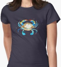 Blue Crab by Jan Marvin Women's Fitted T-Shirt