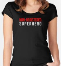 Civil War - Non-Registered Superhero - White Clean Women's Fitted Scoop T-Shirt