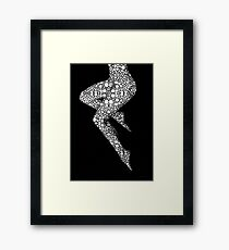 Suspended - Artistic Nude Stone Rock'd Art By Sharon Cummings Framed Print