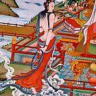 sky goer. tibetan painting, northern india by tim buckley | bodhiimages