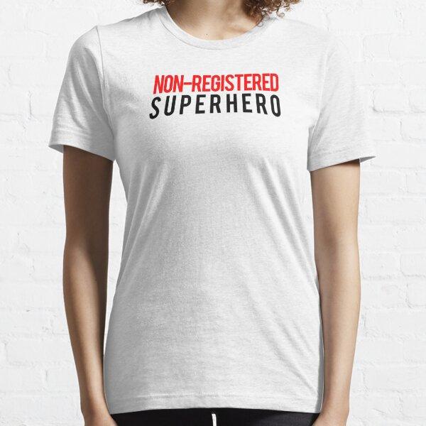 Civil War - Non-Registered Superhero - Black Clean Essential T-Shirt