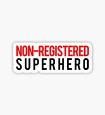 Civil War - Non-Registered Superhero - Black Clean Sticker