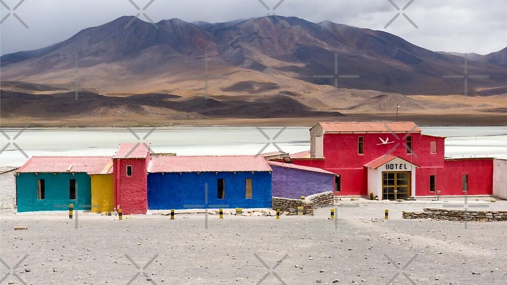 Hotel in a lagoon, Uyuni, Bolivia by Wanderlust40