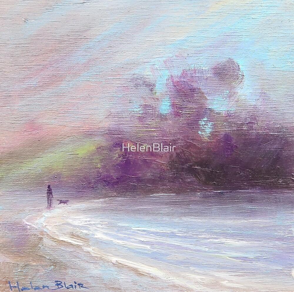 Winter Beach Sunset by HelenBlair