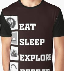 Eat Sleep Explore Repeat virtual reality Graphic T-Shirt