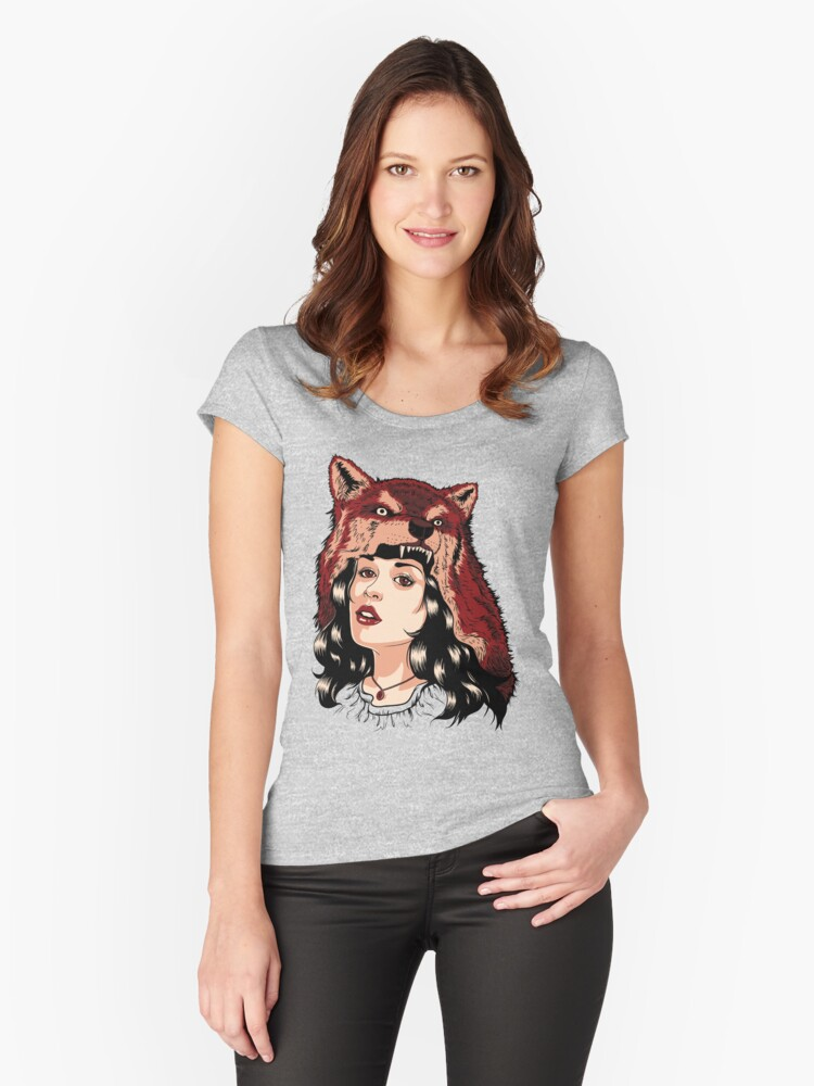 Red hood Women's Fitted Scoop T-Shirt Front
