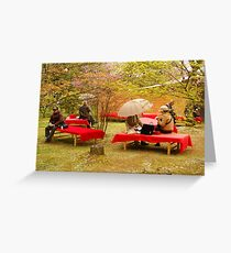 Japanese Picknick at Kyoto Greeting Card