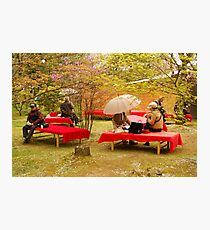 Japanese Picknick at Kyoto Photographic Print