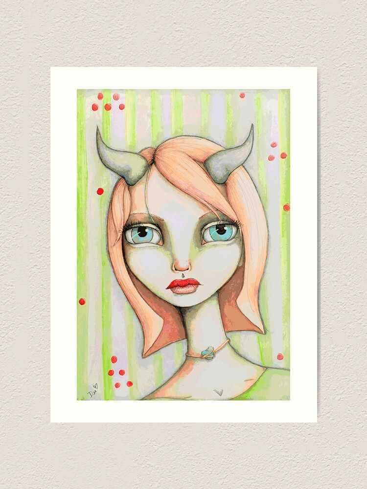 Alternate view of Peachy Faun Art Print
