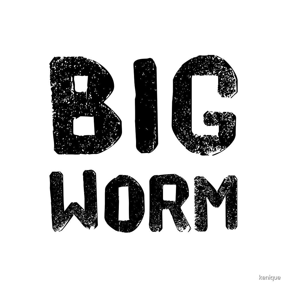 Big Worm Sticker by kenique