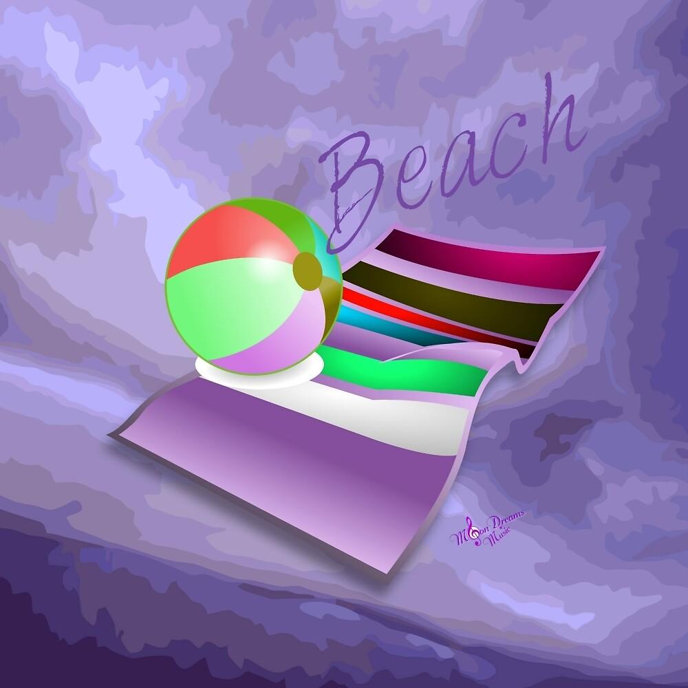 Beach Fun Purple Abstract by moondreamsmusic