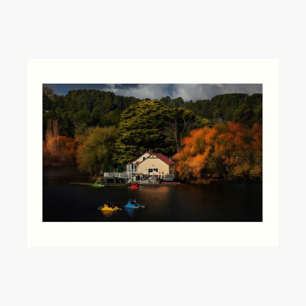 The Boat House Lake Daylesford Art Print