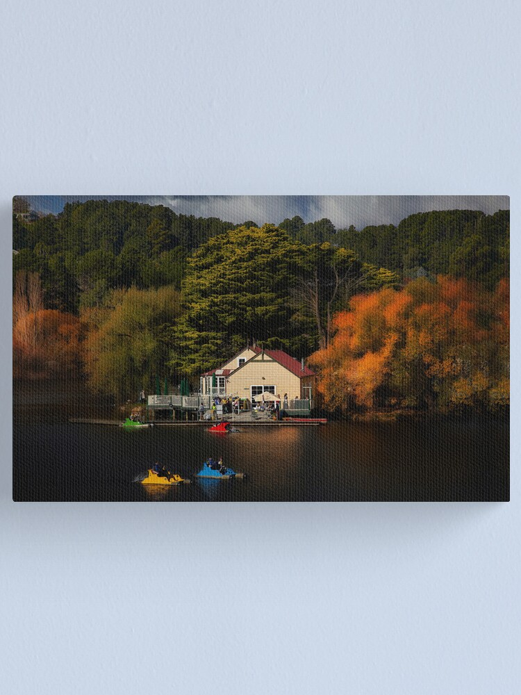 Alternate view of The Boat House Lake Daylesford Canvas Print