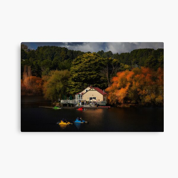 The Boat House Lake Daylesford Canvas Print