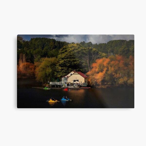 The Boat House Lake Daylesford Metal Print