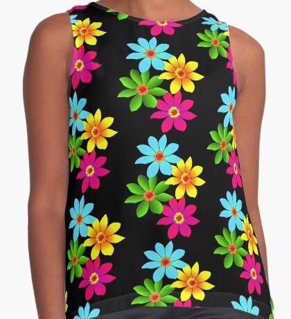 bunte Blumen, Blüten, farbenfroher Blumenstrauß Kontrast Top