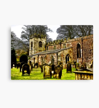 St Peters Church - Croft-on-Tees . Canvas Print