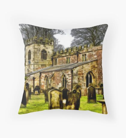 St Peters Church - Croft-on-Tees . Throw Pillow