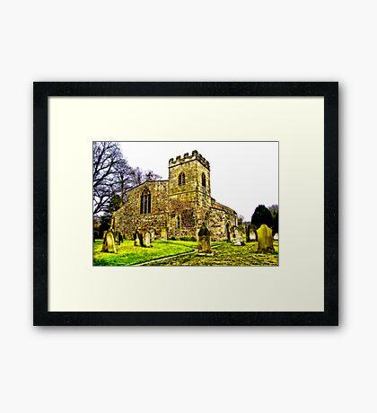 St Peters Church - Croft-on-Tees .#2 Framed Print