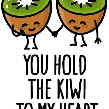 You hold the kiwi to my heart Kawaii cute couple by LaundryFactory